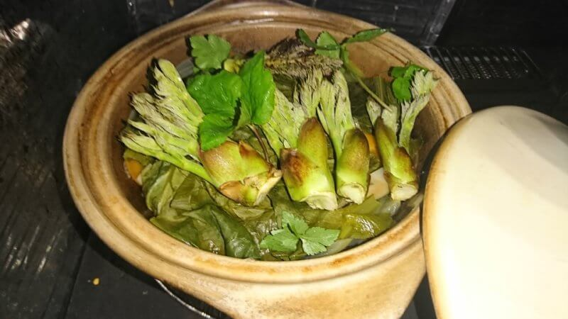 山菜の調理方法(タジン鍋)