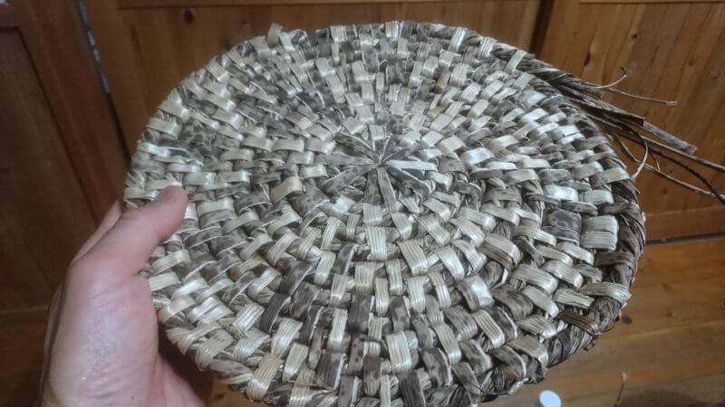 竹皮製鍋敷き